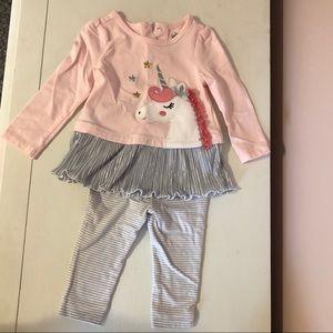 Baby Girl Ruffle Unicorn Outfit
